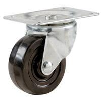 """Shepherd 9477 2"""" Rubber Wheel Swivel Plate Casters"""