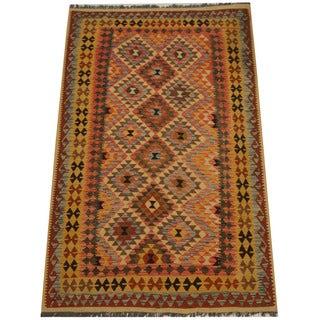 Herat Oriental Afghan Hand-woven Tribal Kilim (5'2 x 8'2)