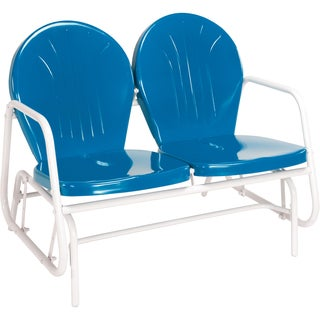 "Jack Post BH-10BL 34"" H X 41.75"" W X 31.25"" D Blue Retro Glider"