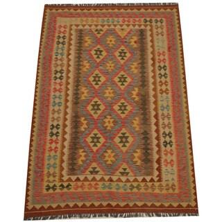 Herat Oriental Afghan Hand-woven Tribal Kilim (5'4 x 7'7)