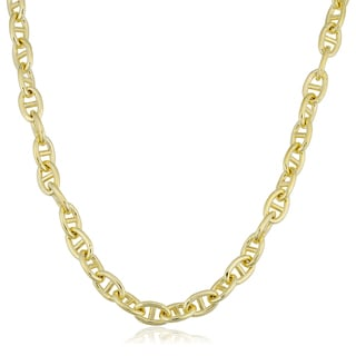 Fremada 14k Yellow Gold Filled 6.6mm Mariner Link Chain Necklace