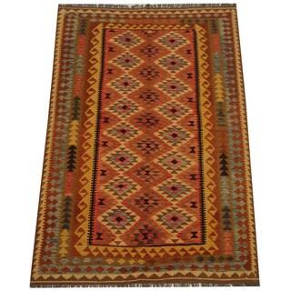 Herat Oriental Afghan Hand-woven Tribal Kilim (5'5 x 8'1)