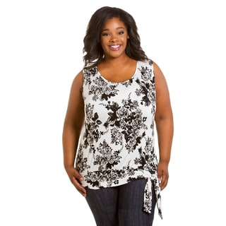 Sealed with a Kiss Women's Plus Size Eleanor Banded Tank