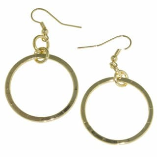 Isla Simone - 18 Karat Gold Plated Wide Large Hoop Drop Earrings