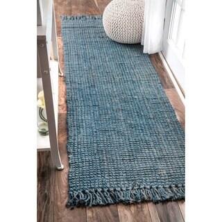 nuLOOM Handmade Eco Natural Fiber Chunky Loop Jute Runner Rug (2'6 x 8')