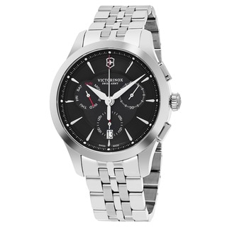 Swiss Army Men's V241745 'Alliance' Black Dial Stainless Steel Chronograph Swiss Quartz Watch