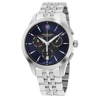 Swiss Army Men's V241746 'Alliance' Blue Dial Stainless Steel Chronograph Swiss Quartz Watch