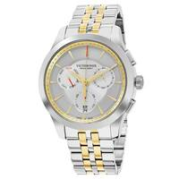 Swiss Army Men's V 'Alliance' Silver Dial Two Tone Stainless Steel Chronograph Swiss Quartz Watch