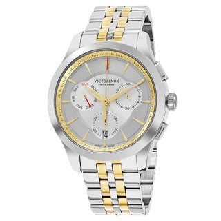 Swiss Army Men's V241747 'Alliance' Silver Dial Two Tone Stainless Steel Chronograph Swiss Quartz Watch