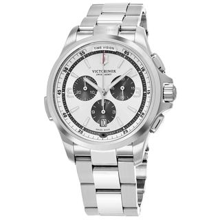 Swiss Army Men's V241728 'Night Vision' Silver Dial Stainless Steel Chronograph Swiss Quartz Watch