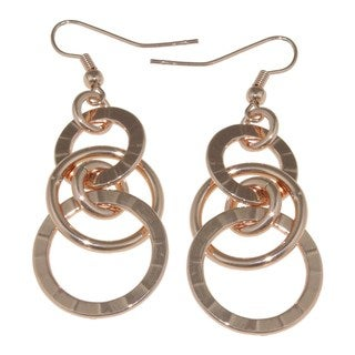 Isla Simone - Rose Gold-Plated Earrings With Links