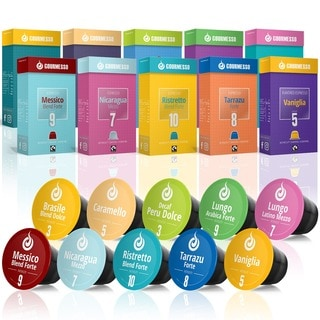 Gourmesso Trial Bundle 100 - 280 Nespresso Compatible Coffee Capsules