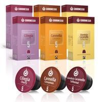 Gourmesso Specialty Flavor Bundle - 60 Nespresso compatible coffee capsules
