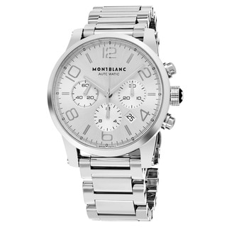 Mont Blanc Men's 09669 'Timewalker' Silver Dial Stainless Steel Bracelet Chronograph Swiss Automatic Watch