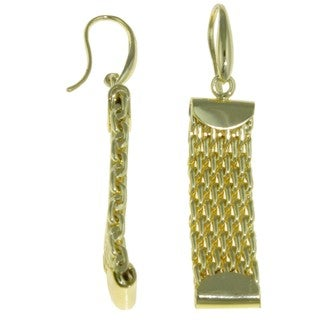Isla Simone - 18 Karat Gold Electro-Plated Weave Link Earrings
