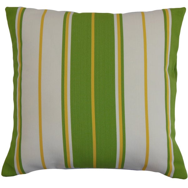 Saloni Stripes Euro Sham Green