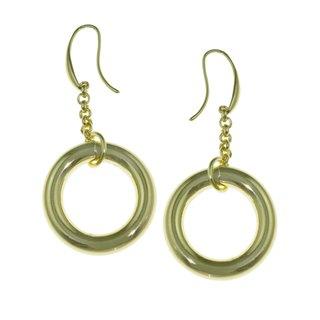 Isla Simone - 18 Karat Gold Electro Plated Circle Link Earring