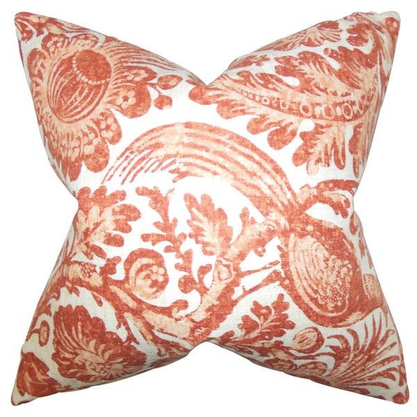 Cadeau Floral Euro Sham Orange - Free Shipping Today - Overstock.com - 19633967