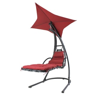 "River Cottage Gardens PH005 44"" X 80"" X 84"" Burgundy Hanging Chair"