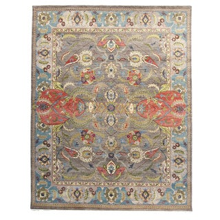 Janel Multicolored Wool Hand-knotted Rug (8' x 10')