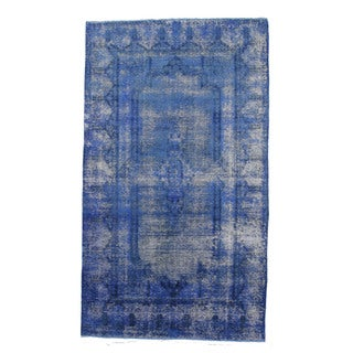 Rhodes Blue Wool Hand-knotted Rug (6'4 x 10'11)