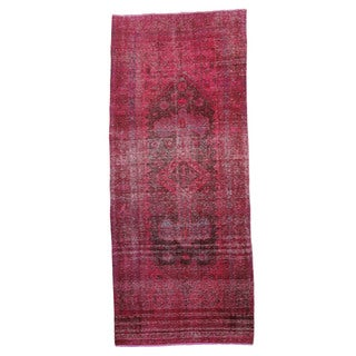 Tatiana Pink Hand-knotted Wool Rug (4'6 x 10'8)