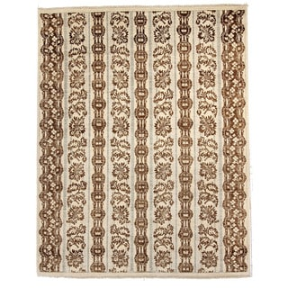 Lucas Ivory Wool Hand-knotted Rug (9' x 12')