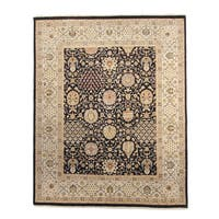 Dabir Black Hand-knotted Wool Rug (8' x 10')