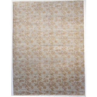 Skye Light Blue Wool Hand-knotted Rug (9 x 12)