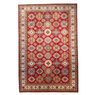 Kazak Red Hand-knotted Wool Rug (10' x 15')
