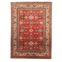 Kazak Red Wool Hand-knotted Oriental Area Rug - 9' x 12'