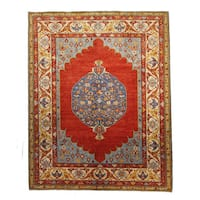 Tabriz Red Wool Hand-knotted Rug (9' x 12')