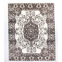 Mode Grey Wool Hand-knotted Rug (8 x 10)