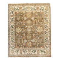 Oushak Mocha Wool hand-knotted Oriental Area Rug (8' x 10')