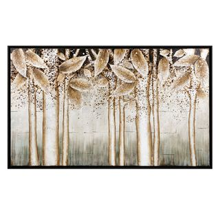 Alder Silver Wall Décor with Wood Frame (31.75 inches long x 51.75 inches high x 1.75 inches wide)
