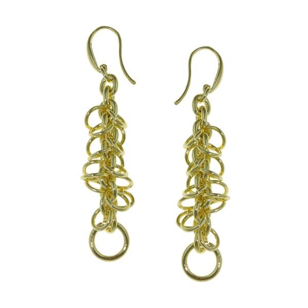 Isla Simone - 18 Karat Gold Electro Plated Multi Link Drop Earring