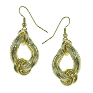 Isla Simone - 18 Karat Gold Electro Plated Textured Earrings