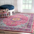 nuLOOM Traditional Persian Vintage Fancy Pink Area Rug (5' x 7'5)