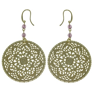 Isla Simone - 18 Karat Gold Electro Plated Round Byzantine Earrings