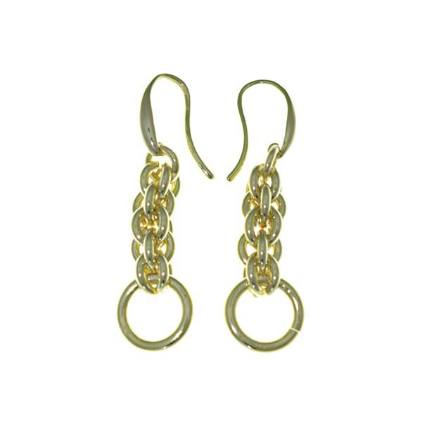 Isla Simone 18 Karat Gold Electro Plated Interlock Earring