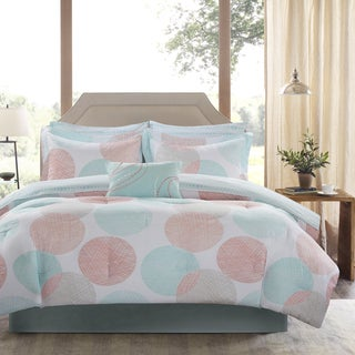 Madison Park Essentials Ara Coral Printed Complete Bed And Sheet Set