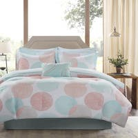 Madison Park Essentials Ara Coral Printed Complete Bed And Cotton Sheet Set