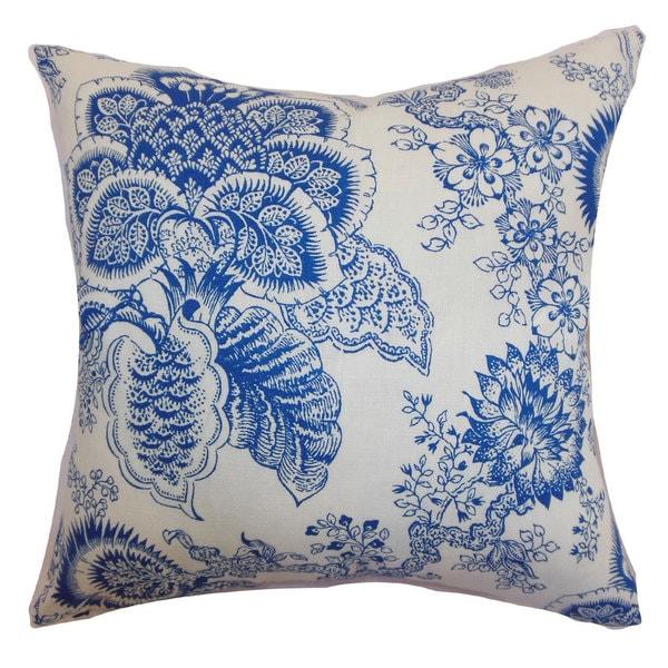 Paionia Floral Euro Sham Blue