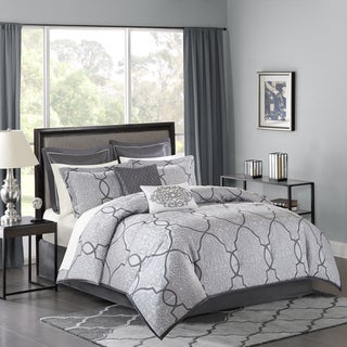 Madison Park Anuok Silver Jacquard 12 Piece Comforter Set