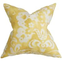 Emese Floral Euro Sham Yellow