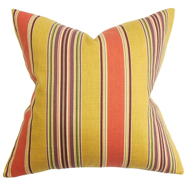Hollis Stripes Euro Sham Orange Yellow
