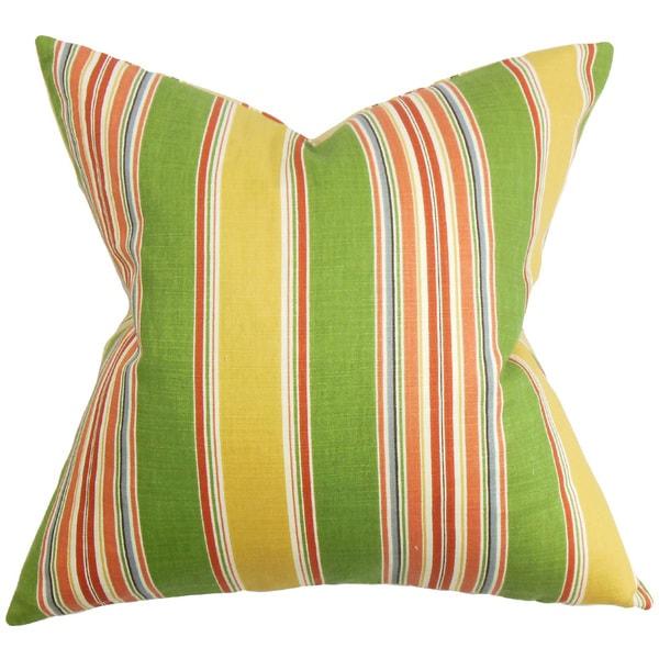 Hollis Stripes Euro Sham Green Yellow