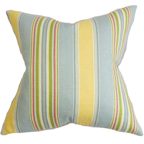 Hollis Stripes Euro Sham Blue Yellow