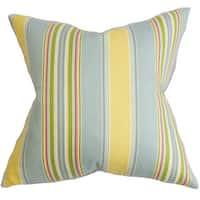 Hollis Stripes Euro Sham Blue Yellow