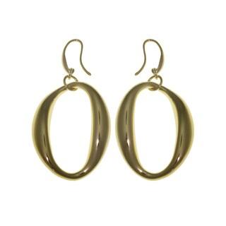 Isla Simone - 18 Karat Gold Electroplate Oval Eletroform Earring
